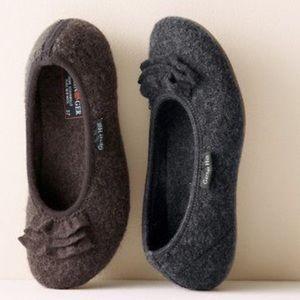 Garnet Hill Haflinger boil wool ballet slipper 38